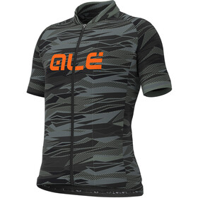 Alé Cycling Rock Jersey Korte Mouwen Kinderen, black/fluo orange
